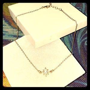 Jewelry - Adjustable Chain w/ Gold ⭐️ CZ Pendant
